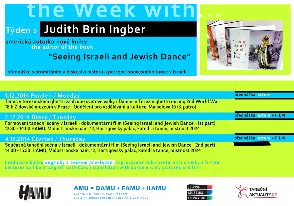 Judith Brin Ingber flyer for Prague lectures on Jewish Dance
